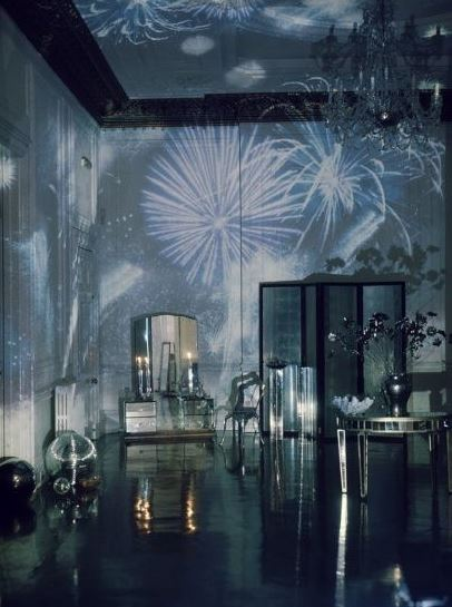 Light Projection Of Fireworks