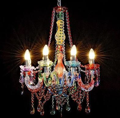 Multi Coloured Chandeliers