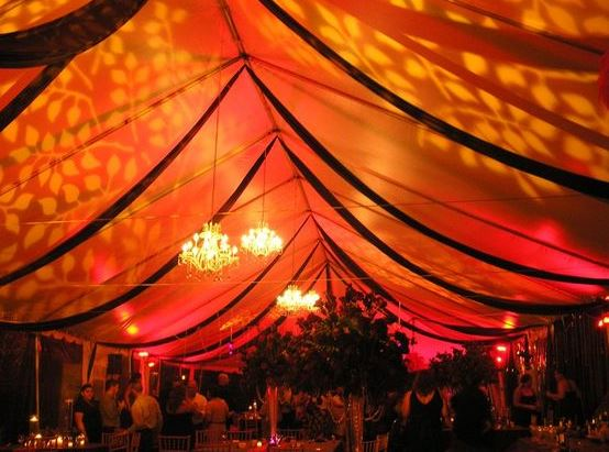 Large uplighted event tent